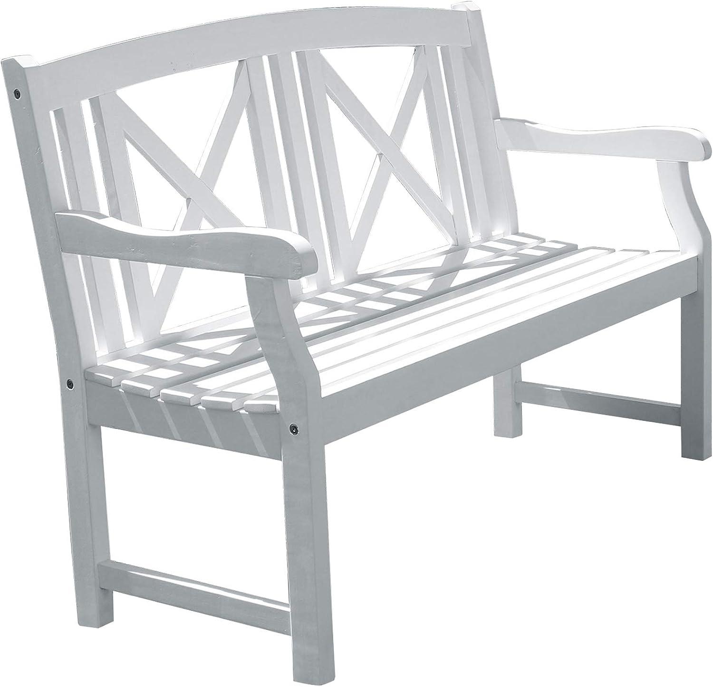 Vifah V1353 Bradley Outdoor Wood Bench