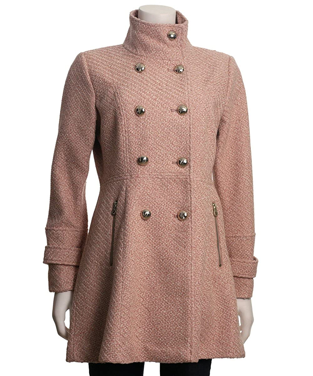 Jessica Simpson Womens Military Fit and Flair Wool Coat Jessica Simpson Outerwear JOHMH570