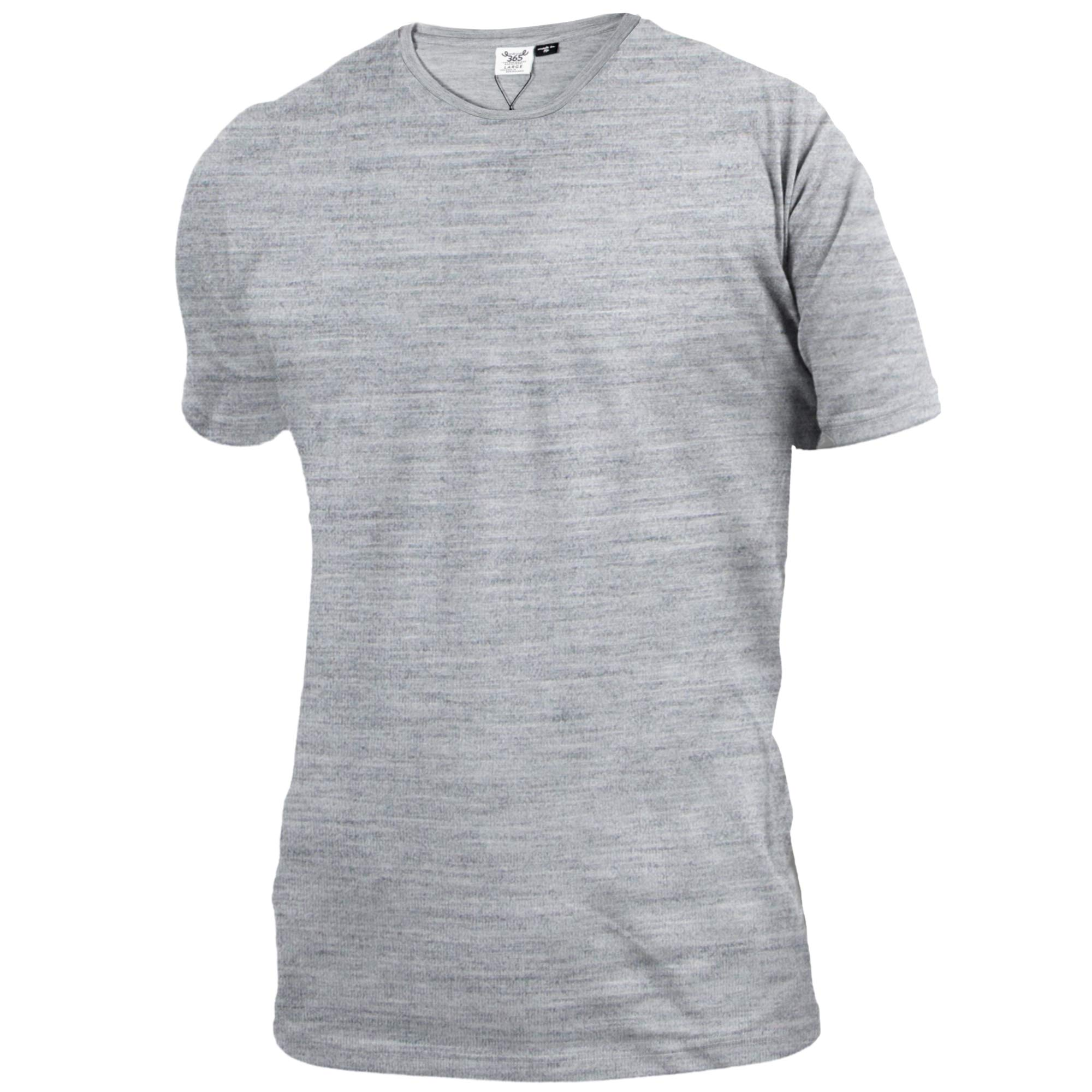 Merino 365 Men's Crew Short Sleeve Large, Heather Grey by Merino 365
