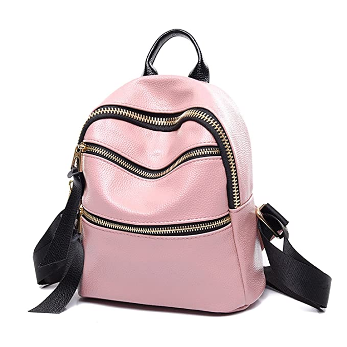 24c50bdd0868 Image Unavailable. Image not available for. Color  JHNIF Fashion PU Leather  Mini Backpack Rucksack Casual Bags ...