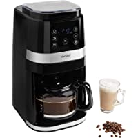 VonShef Bean to Cup Filter Coffee Machine, Digital Instant Coffee Maker with Integrated Burr Grinder for Coarse and Fine Grinding Options, with Reusable Filter and Keep Warm Function – 1.5L 12 Cups