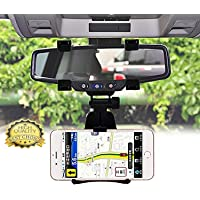 BROLAVIYA ® Iceberg Makers Universal 360 Degree Rotation Car Rearview Mirror Mount Holder Stand Cradle for All Mobile Cell Phone GPS