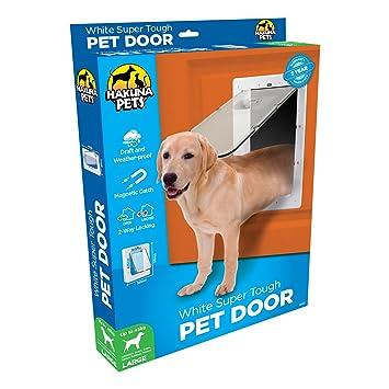 Amazon Hakuna Pets White Super Tough Pet Door Large Pet