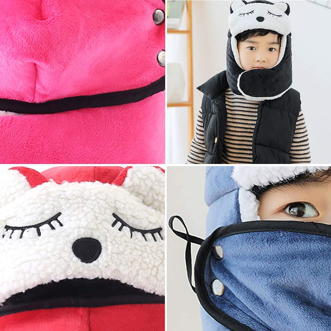 LORYLOLY Hat /& Scarf Winter Set for 3-9 Years Boys Old /& Girls Thermal Fleece Lining Hat Scarf for Kids for Cold Weather Ski Snowboard Snowball Warm Thick Fashion