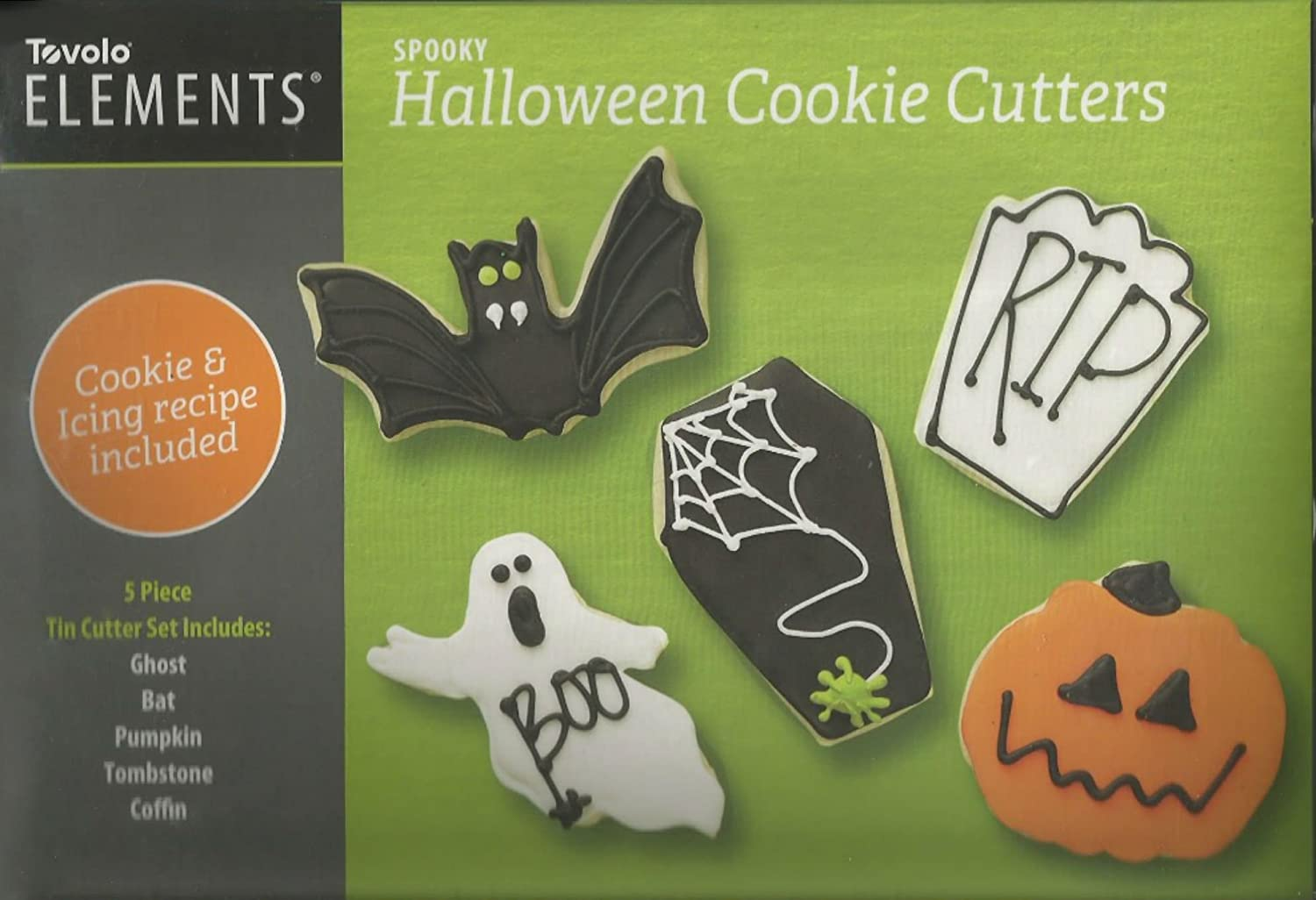Tovolo Elements Spooky Halloween Cookie Cutters