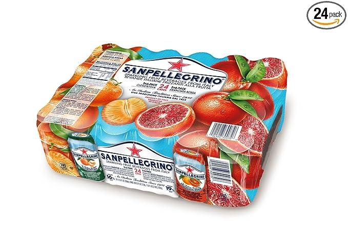 Sanpellegrino Italian Sparkling Drink, Blood Orange, 11.15 fl oz. Cans