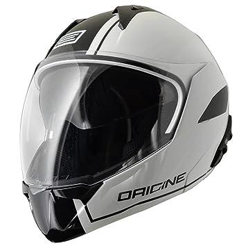 Origine Helmets - Riviera Dandy Flip-Up Casco Moto, Blanco/Negro, XS