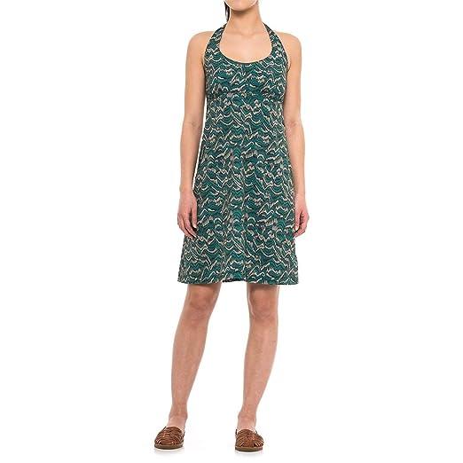 ededdf842dd2 Columbia PFG Armadale Dress - UPF 40, Halter Neck Teal Raindrop Wave Print  (Medium