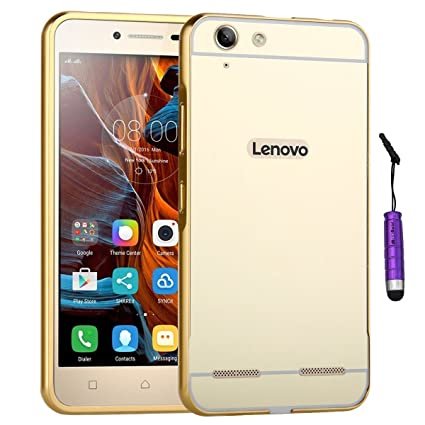 Lenovo Vibe K5 Plus Case Moonmini Aluminum Metal Frame Bumper With Mirror Effect For