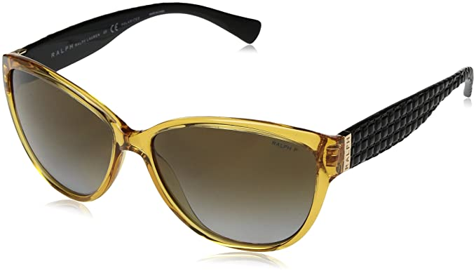20f45d8bc56 Image Unavailable. Image not available for. Color  Ralph by Ralph Lauren  Women s 0ra5176 Polarized Cateye ...