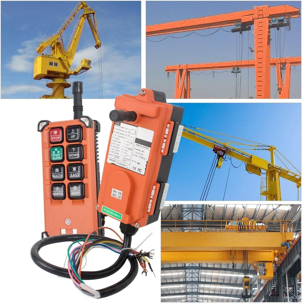 New 2 Transmitters 8 Channels Hoist Crane Radio Remote Control System 12V