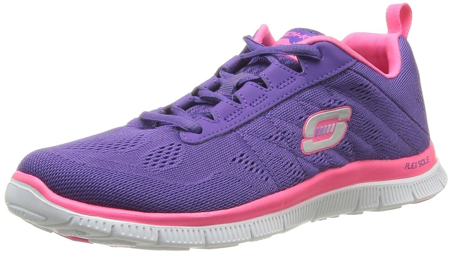 Skechers Damen Flex Appeal Sweet Violett Spot Sneaker, Pink Purple Violett Sweet (Prhp) 2b3f36
