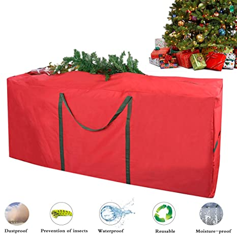 christmas tree storage bag justdolife xmas tree bag heavy duty canvas christmas tree storage bag - Christmas Tree Bags Amazon