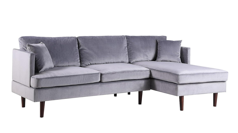 Amazon.com: Mid-Century - Sofá de microfibra con forma de L ...