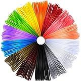 Anpro Filo per Penne Stampante 3D Multicolore, Filamenti per Stampante 3D 1.75 mm ABS 14 Colori 20 Piedi