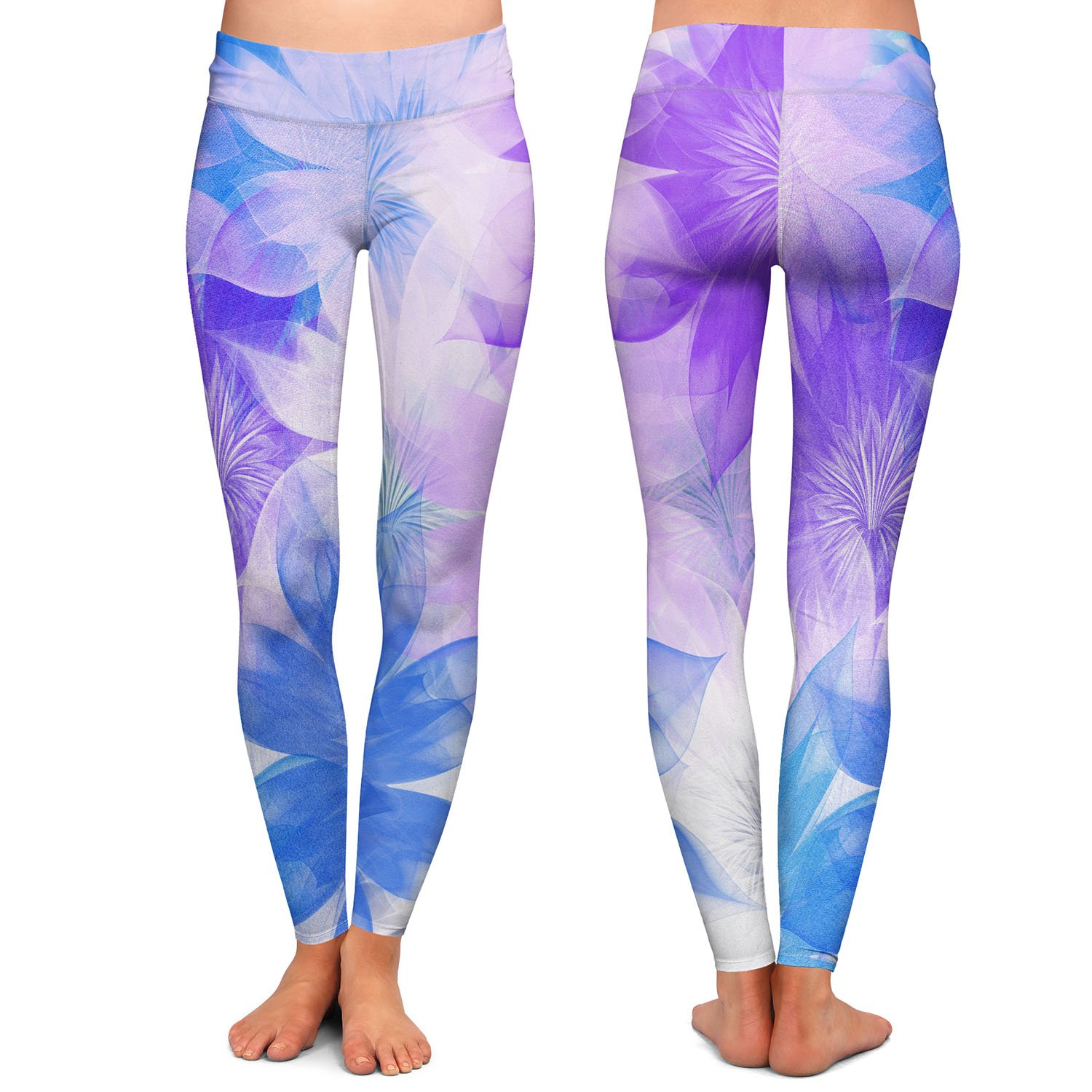 Flower Bunch Purples Athletic Yoga Leggings from DiaNoche Designs by Pam Amos