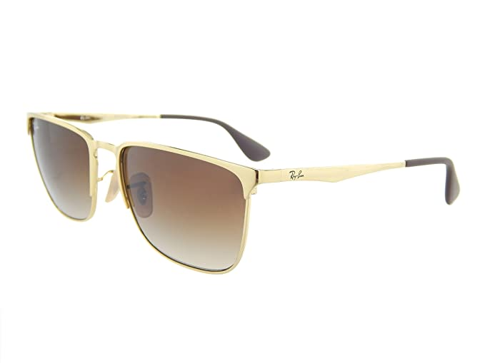 Amazon.com  New Ray Ban RB3508 001 13 Gold Crystal Brown Gradient Lens 56mm  Sunglasses  Clothing 81483aaffd
