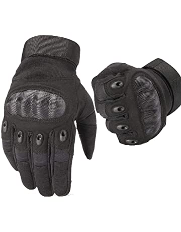 DREILO Guantes Moto de Hombre Goma nudillo Duro Guantes Touch Screen  Antideslizante Tactical Full Finger Motocicleta 45c0f83813c