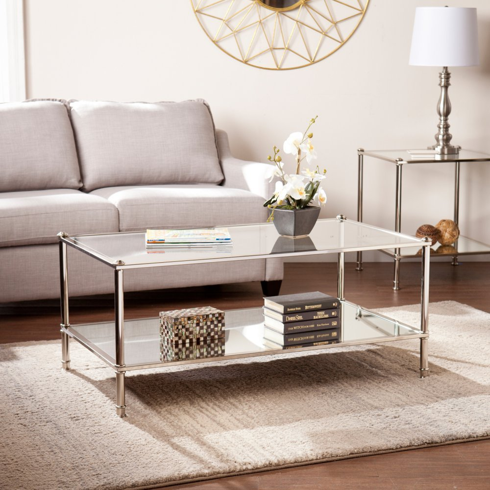 Southern Enterprises Paschall Cocktail Table, Silver