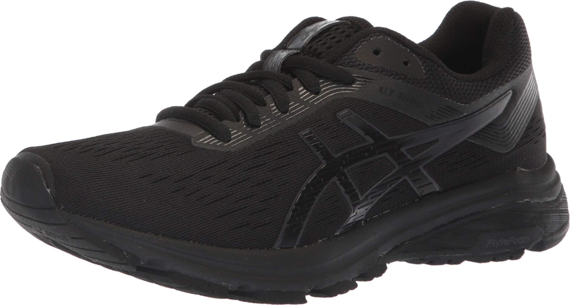 ASICS 1012A030 Women's GT-1000 7 Running Shoe, Black/Phantom, 8.5 M US by ASICS