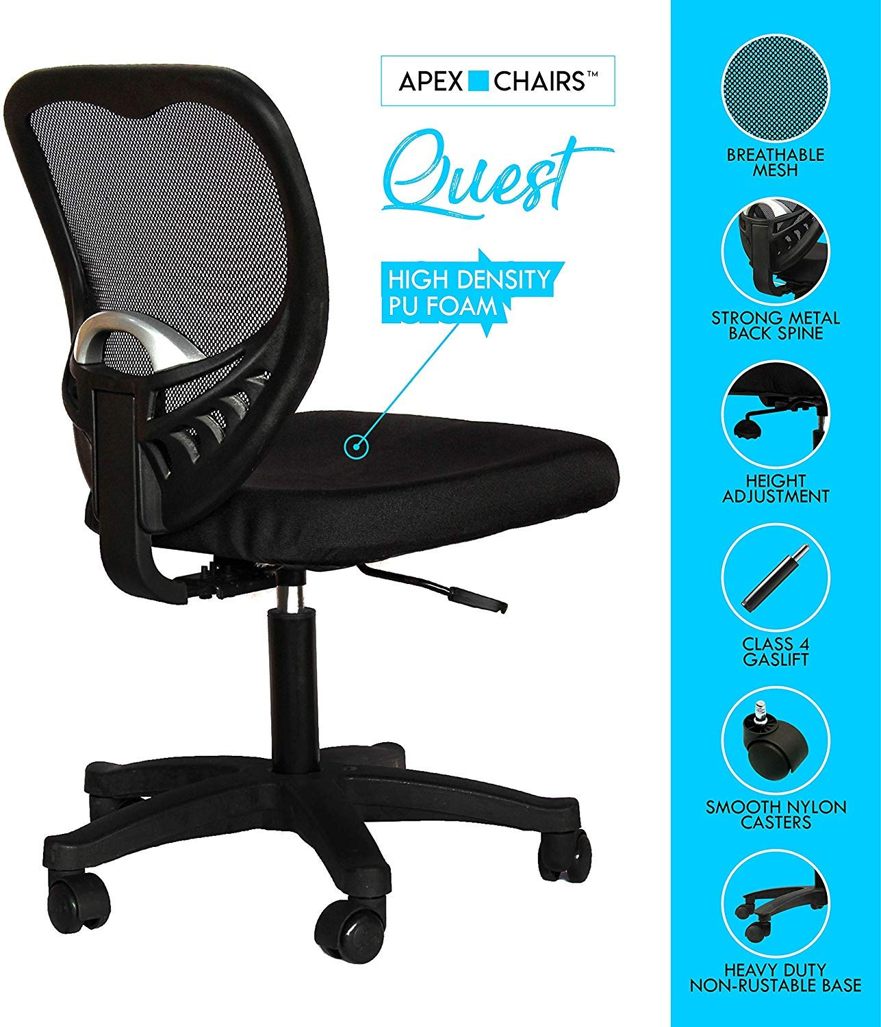 Amazon price history for Apex ChairsTM Quest Medium Back revolving Office Chair