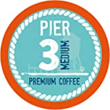 Pier 3 Medium Roast Coffee Pods, Compatible with 2.0 K-Cup Brewers, 24 Count (Pack of 4)