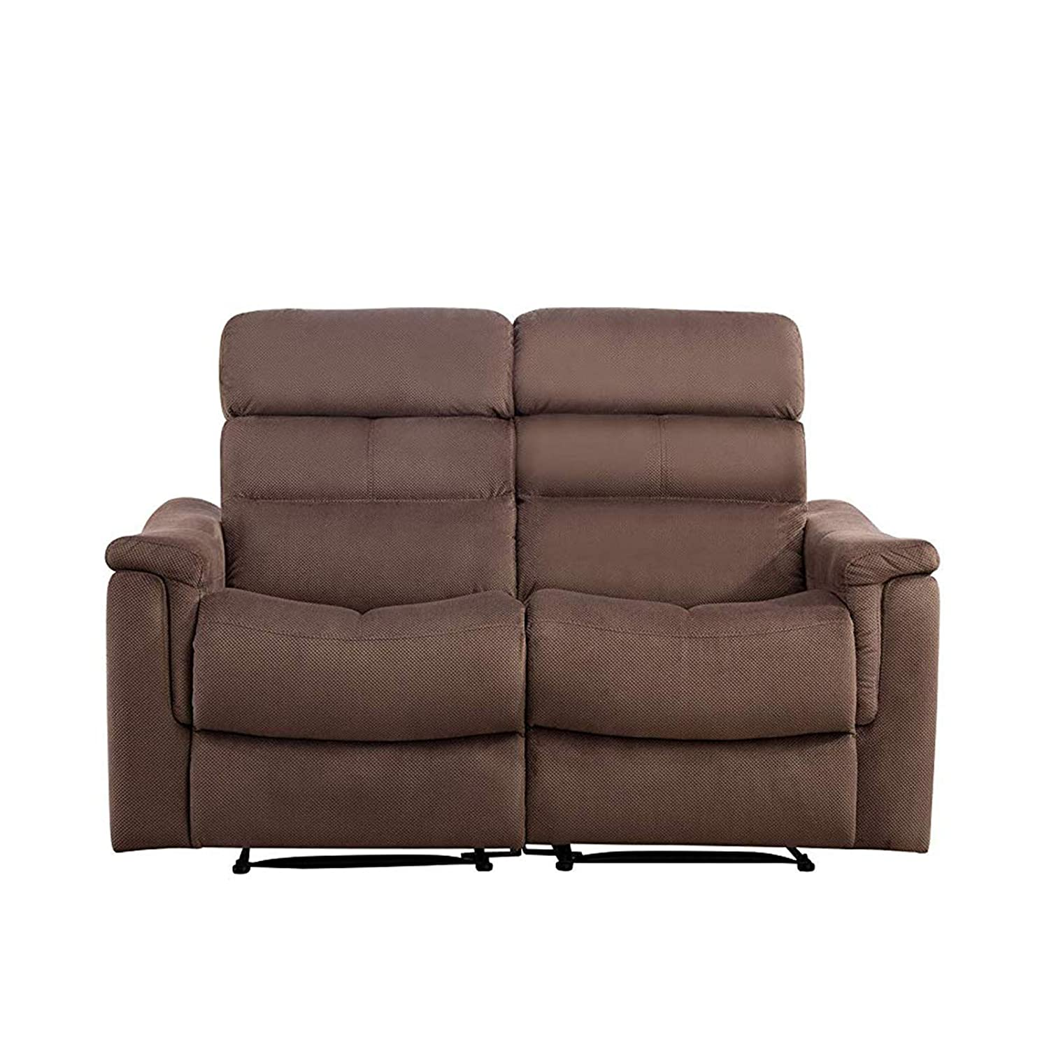 Magnificent Mecor Recliner Loveseat Manual Reclining Sofa Couch Double Recliner Chair Fabric Home Theater Seating With Reclining Motion 2 Seats Chocolate Ocoug Best Dining Table And Chair Ideas Images Ocougorg