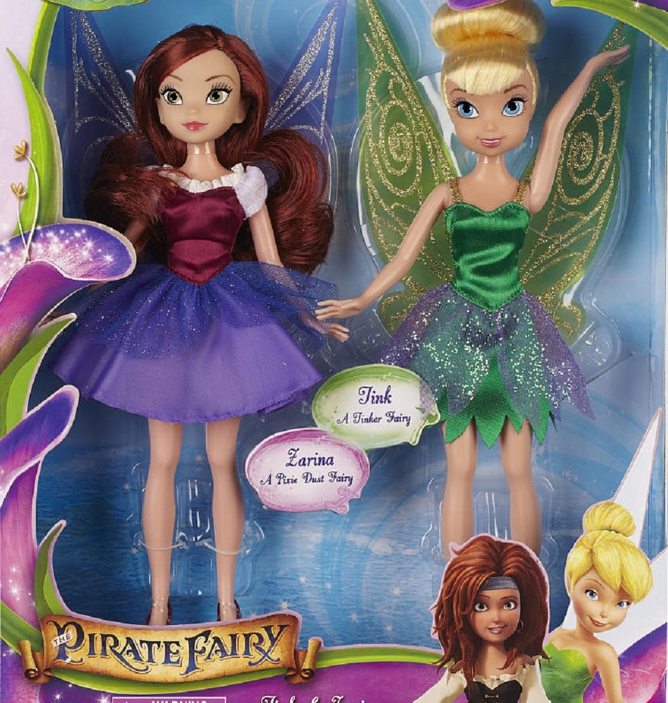9 Inches Disney Fairies The Pirate Fairy Exclusive Doll Set Tink /& Zarina