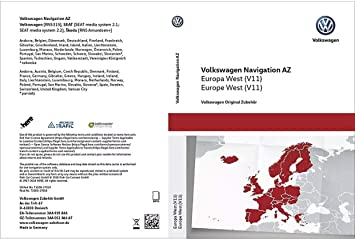 VW RNS 315 V10 NAVI SD Card MAP West Europe 2018-2019