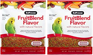 ZuPreem FruitBlend Flavor Pellets Bird Food for Small Birds - Powerful Pellets Made in USA, Naturally Flavored for Parakeets, Budgies, Parrotlets