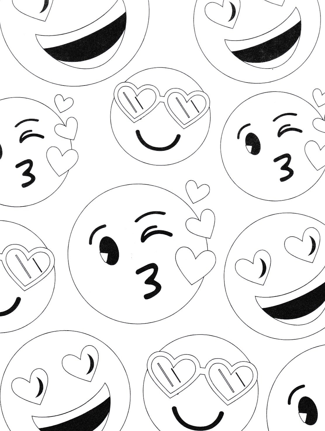 Valentines Emoticon Coloring Pages and Pencils, set of 48 pieces Party Favors by Custom Variety (Image #5)