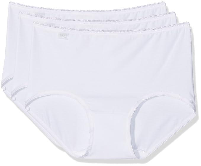 Sloggi 10167221, Bragas para Mujer, Blanco, 42, Pack de 3