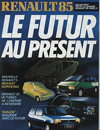1985 Renault 5 Supercinq 25 V6 Turbo Magazine Brochure French