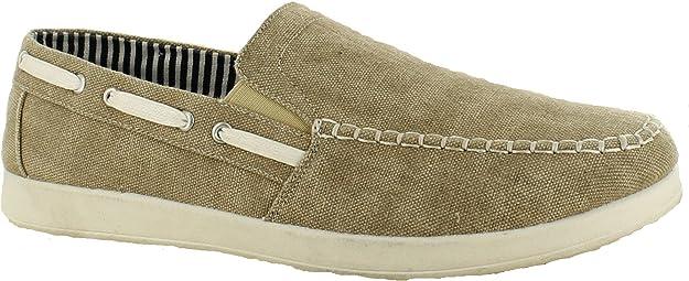 Zapatos de lona para hombre Plimsolls zapatos de barco para hombre talla 6 7 8 9 10 11 mocasines de conducción casual de verano sin cordones