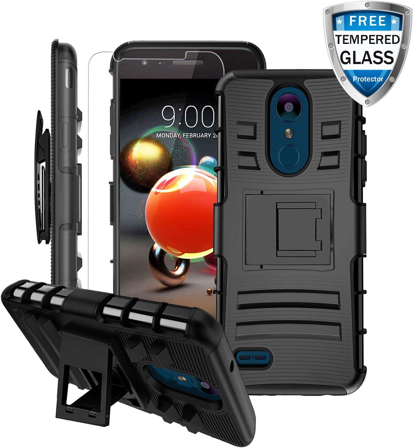 LG Aristo 3 Case, LG Aristo 2/Rebel 4 LTE/Aristo 3 Plus +/Tribute Empire&Dynasty/LG K8S/Zone 4/Aristo 2 Plus/Fortune 2/K8+/Risio 3/Phoenix 4 Case w/Screen Protector&Kickstand&Belt Clip Heavy Duty Case