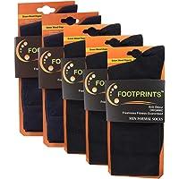 FootPrints Organic Cotton and Bamboo Men's Formal Socks Pack of 5 -(3 Black, 2Navy)