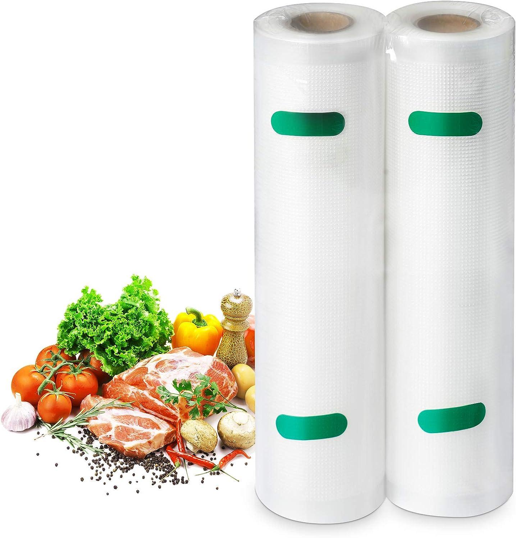 2 Pack Vacuum Sealer Bags for Food Saver, 8