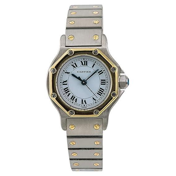 Cartier Santos Octagon 187903 - Reloj automático de Mujer (Certificado de autenticidad)