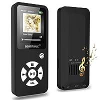 BERTRONIC Made in Germany BC01 Royal MP3-Player, 16 GB ★ Bis 100 Stunden Wiedergabe ★ Radio | Portabler Player mit Lautsprecher | Audio-Player für Sport mit Micro SD-Karte & Silikonhülle
