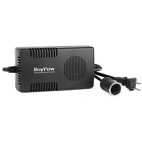 RoyPow 120W (Max 150W) Power Supply AC to DC Adapter 110V/120V to 12V Car  Cigarette Lighter Socket 12V/10A DC Power Converter Transformer