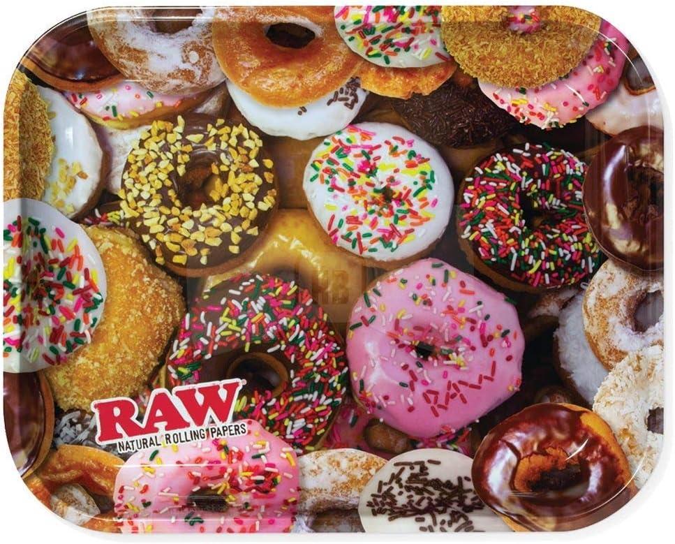 Bandeja grande de metal con diseño de donut