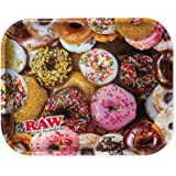 """Raw Delicious Doughnuts Metal Rolling Tray - Large 14"""" x 11"""""""