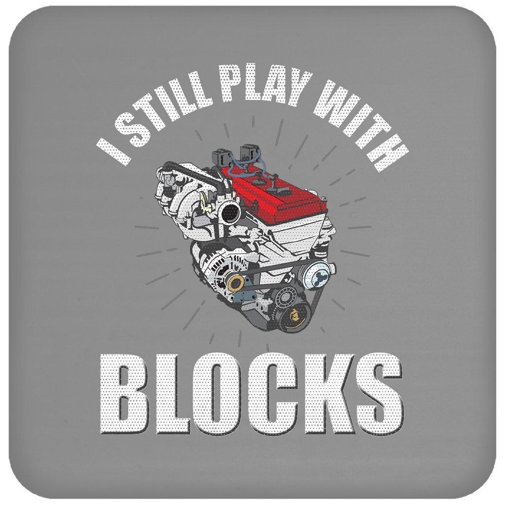 I Still Play WithブロックFunnyメカニックエンジンブロックエンジニアギフト、コースター   B079N9V6L7