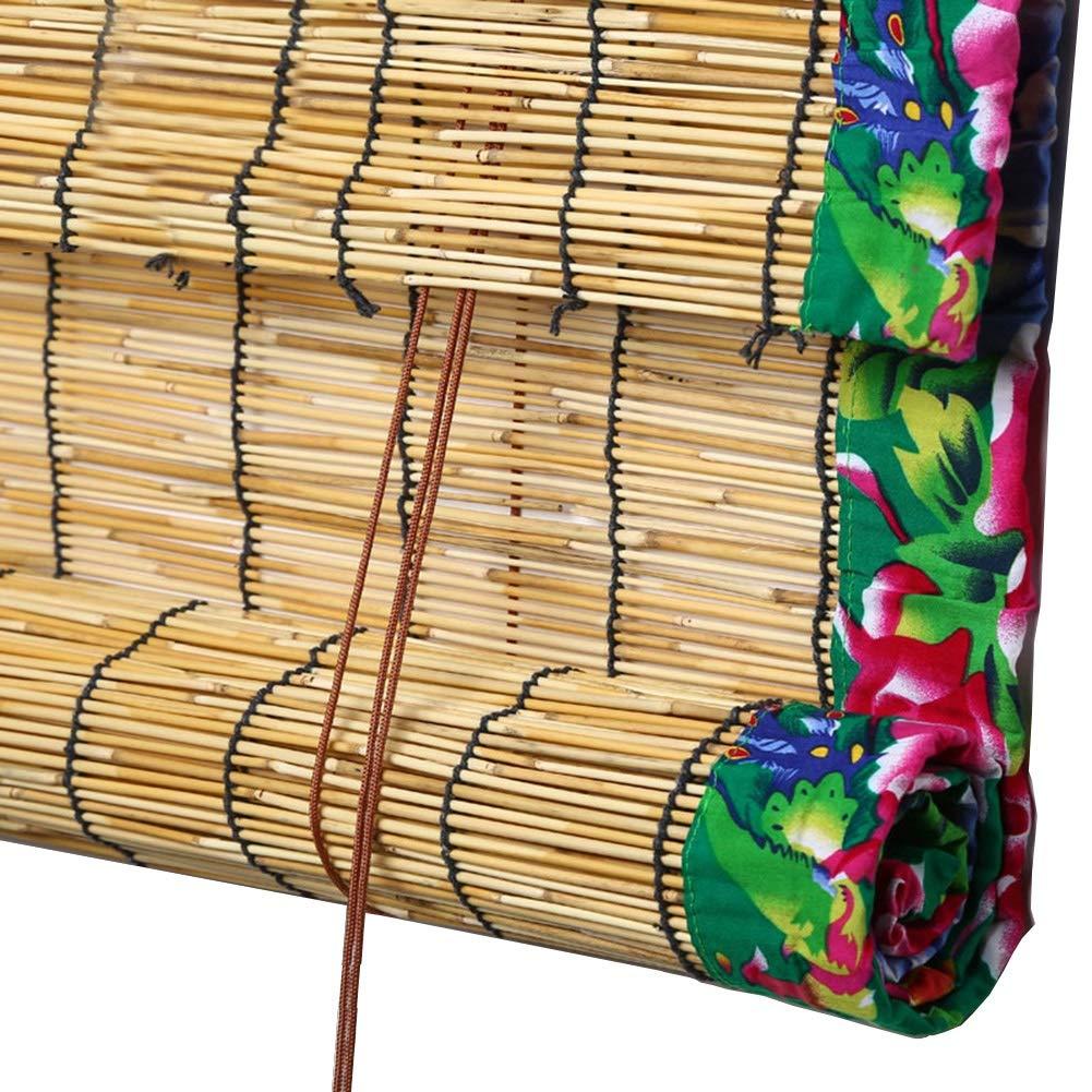 CHAXIA 竹ロールスクリーン竹はウィンドウシェードを竹すだれ竹製カーテン リード サンバイザー わらのカーテン レトロ パーティション、 3つのスタイル 複数のサイズ (Color : A, Size : 150X220cm) 150X220cm A B07T4ZDW2X
