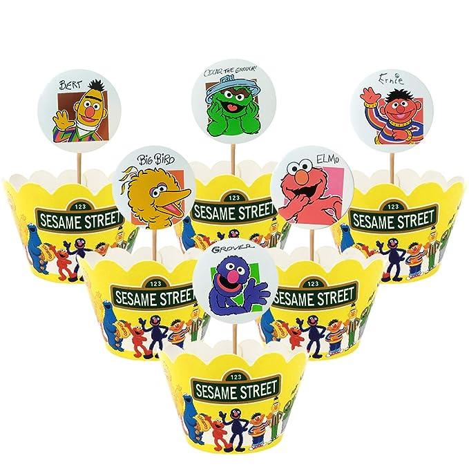 Sesame Street CenterpieceHappy BirthdayParty SuppliesCake Topper