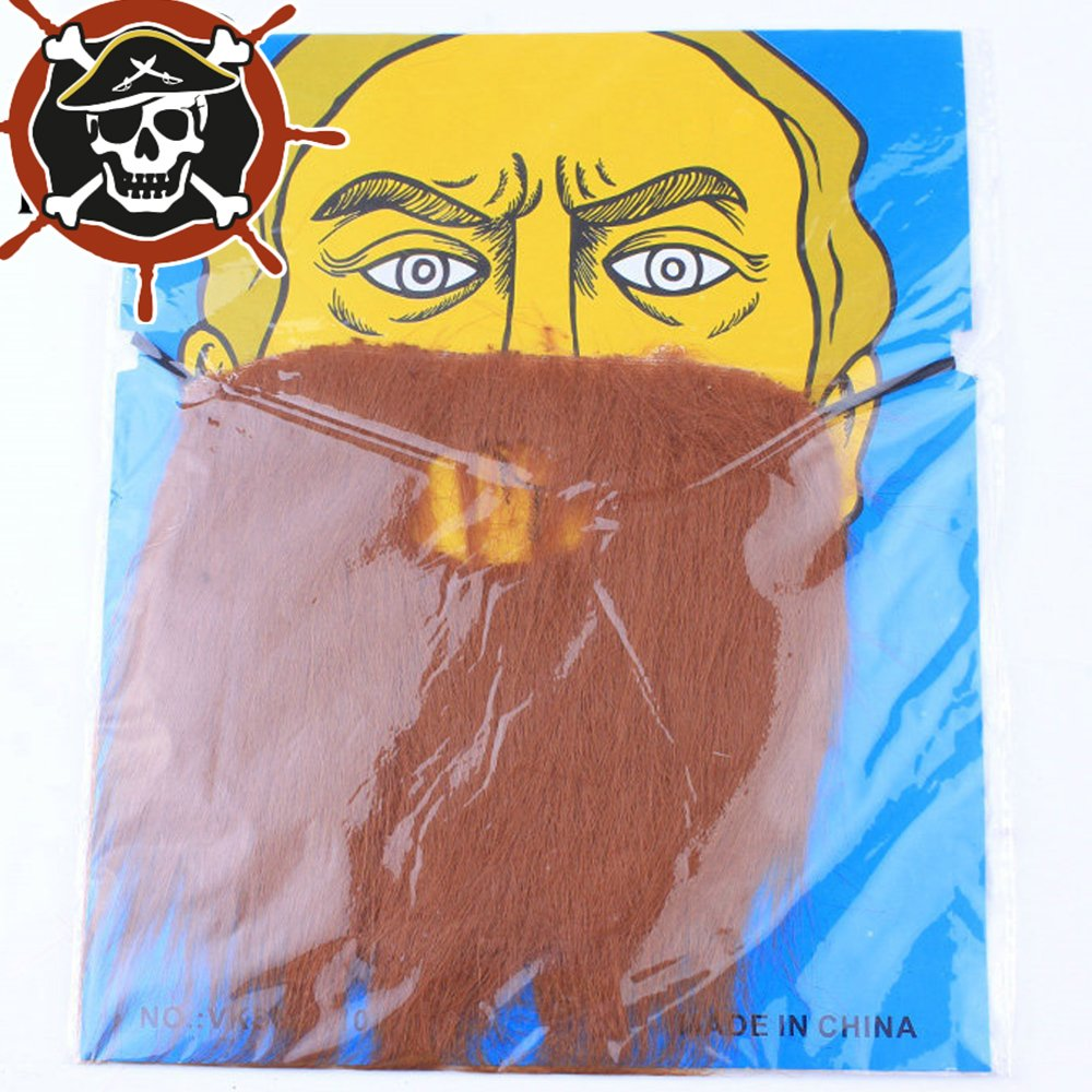 BROWN Fashionikon Fake Moustache Self Adhesive Moustaches Halloween BLACK//BROWN Bread for Masquerade Party Favor Costume and Performance