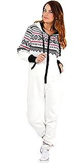 5e17d9059d Amazon.com  SKYLINEWEARS Women s Ladies Onesie Hoodie Jumpsuit ...