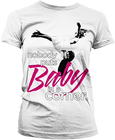 Mesdames Dirty Dancing Baby Patrick Swayze Officiel Tee T-shirt pour femme