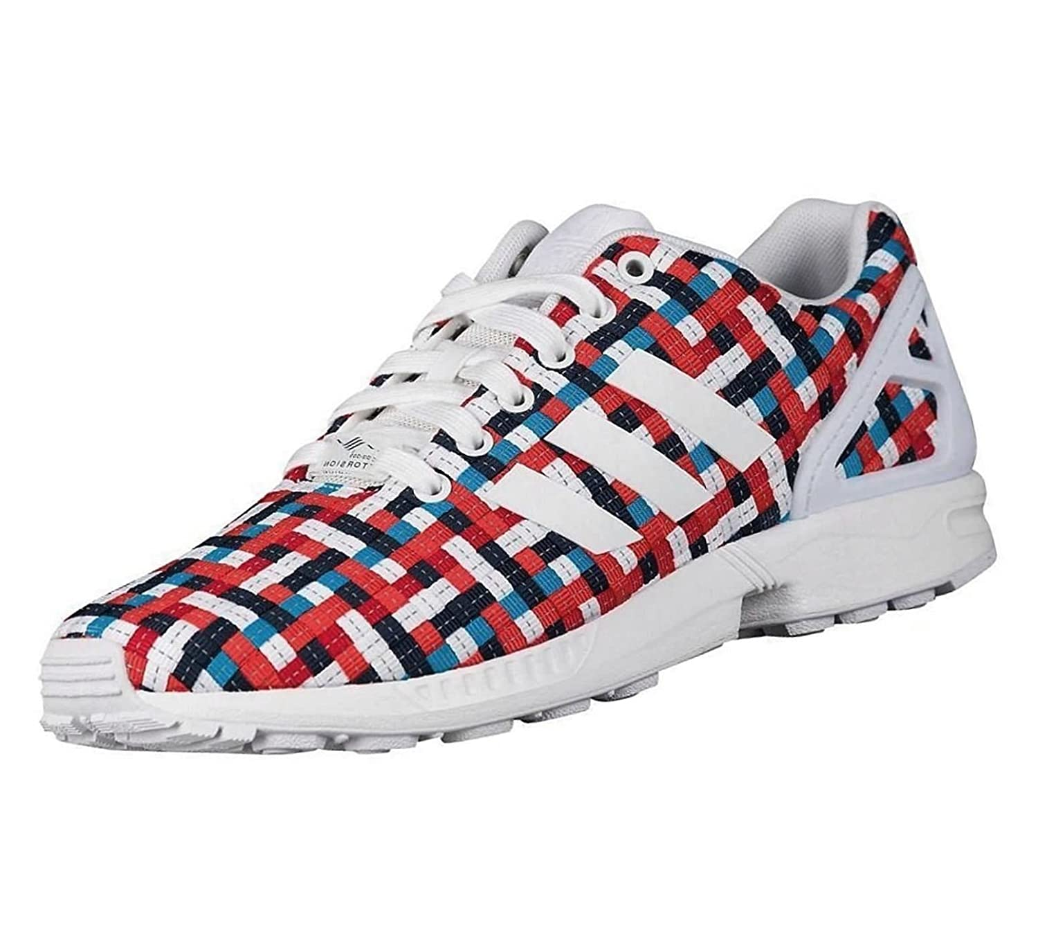 premium selection ad6b2 6d34d Amazon.com | adidas Originals Men's ZX Flux Woven Sneakers ...