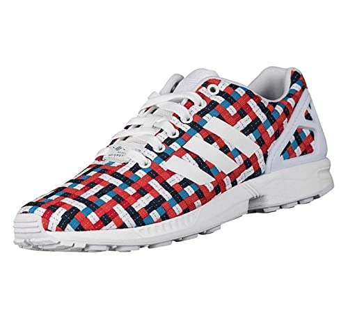 df9b39dbf2e6 adidas Originals Unisex ZX Flux Woven Trainers Multi Coloured UK 4